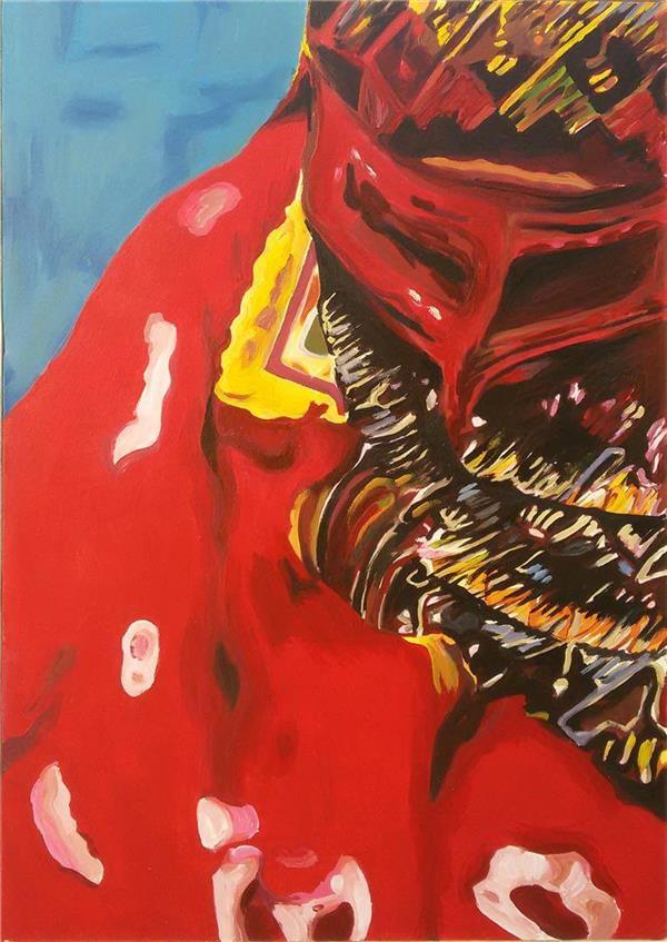 هنر نقاشی و گرافیک نقاشی بیان خویشتن زهرا 100*70  زن جنوبی تکنیک آکریلیک