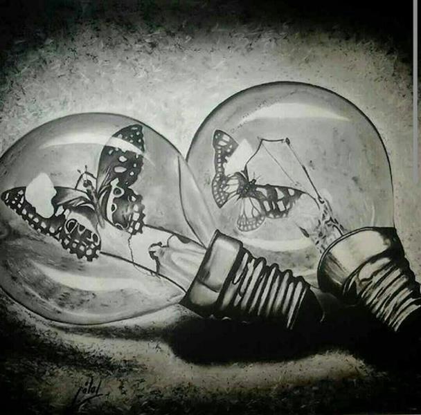 هنر نقاشی و گرافیک نقاشی بیان خویشتن معصومه لطفی حصار شیشه ای