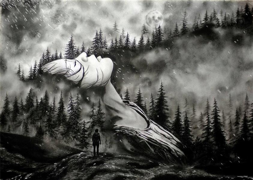 هنر نقاشی و گرافیک نقاشی بیان خویشتن رضا موسوی