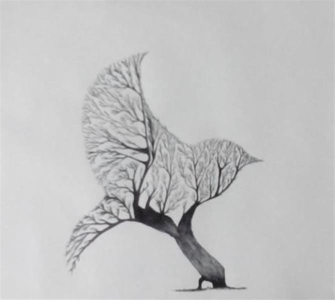 هنر نقاشی و گرافیک نقاشی بیان خویشتن Mozhgan
