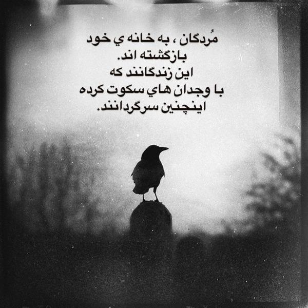هنر شعر و داستان شعر سکوت abs جهنم خاموش  مُردگان ، به خانه ی خود بازگشته اند. این زندگانند که با وجدان های سکوت کرده اینچنین سرگردانند.