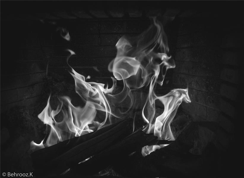 هنر عکاسی دود و آتش Behrooz