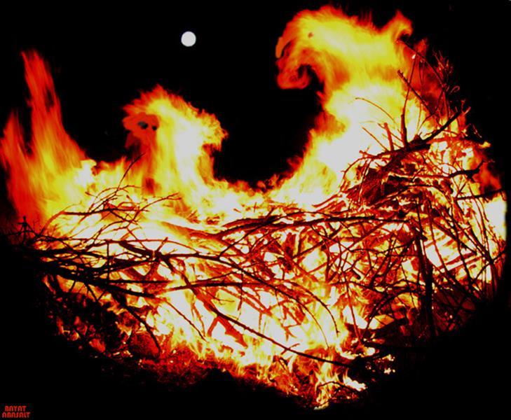 هنر عکاسی دود و آتش عکس اباصلت بیات بدون عنوان