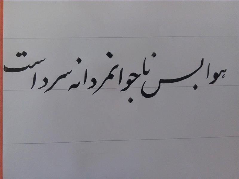 هنر خوشنویسی هوا بس ناجوانمردانه سرد است احمد مظفری