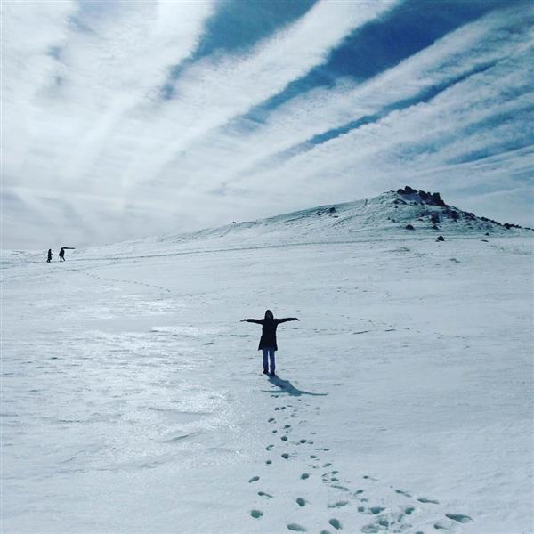 هنر عکاسی برف behi قله ی میشان-همدان