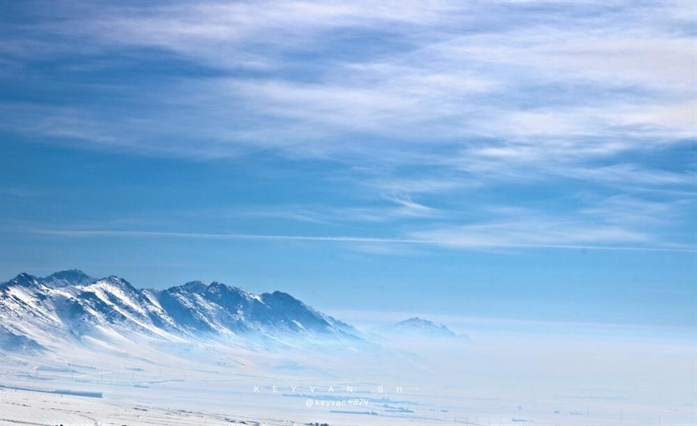 هنر عکاسی برف keyvan بار مه سنگین تر از برف است ،شانه های کوه می داند...