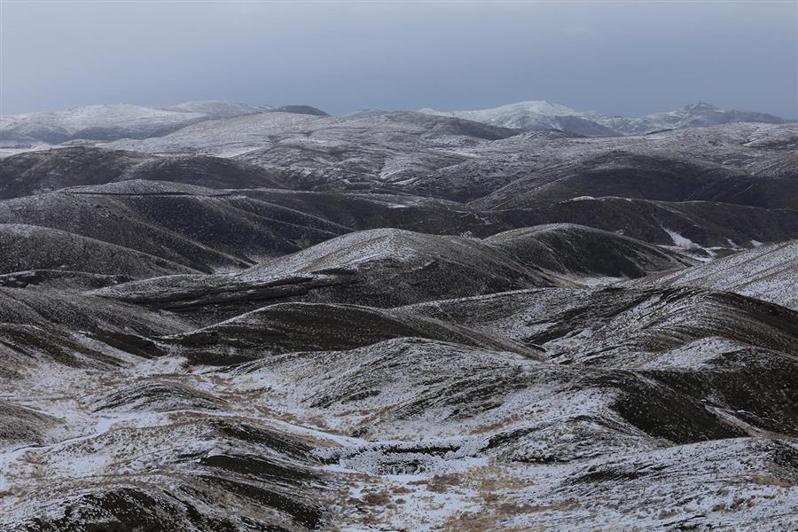 هنر عکاسی برف محمدجوادآبجوشک نمایی از کوهایی پوشیده از برف در منطقه طرقبه خراسان رضوی