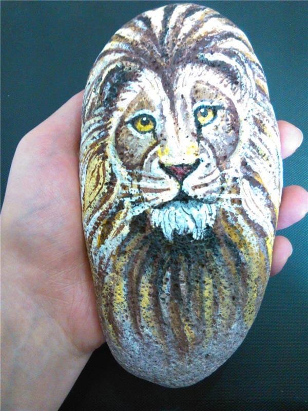 هنر نقاشی و گرافیک نقاشی حیوانات behi نقاشی روی سنگ