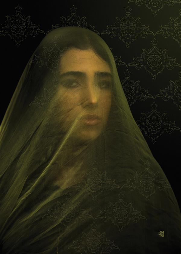 هنر عکاسی محفل عکاسی رخساره شجاع الدین #عکاسی_دراماتیک از مجموعه #شالهای_رنگی