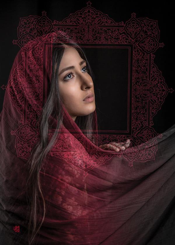 هنر عکاسی محفل عکاسی رخساره شجاع الدین #عکاسی_دراماتیک از مجموعهٔ #شالهای_رنگی