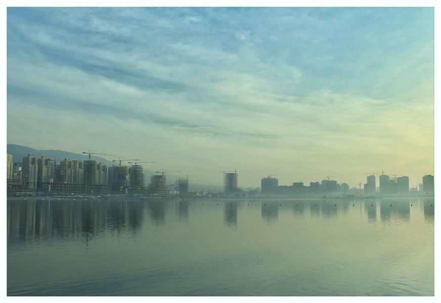 هنر عکاسی محفل عکاسی لیدا اسدی #انعکاس#منظره#دریاچه#آسمان