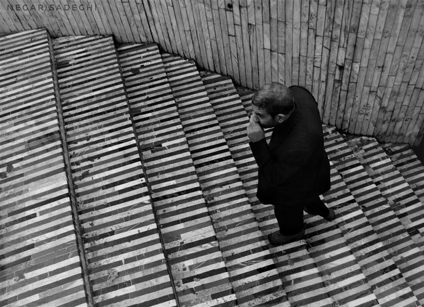 هنر عکاسی محفل عکاسی نگار صادقی #canon760d #bnw #kermanshah #streetphotography