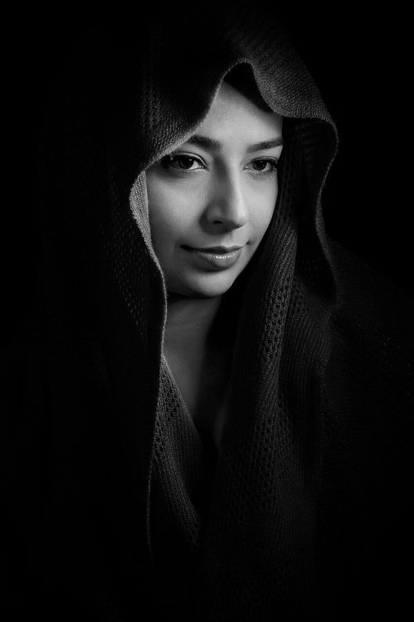 هنر عکاسی محفل عکاسی الهه رستمی #امید #black&white