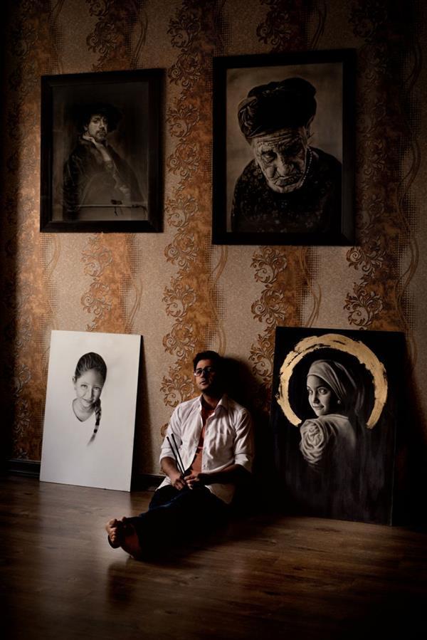 هنر عکاسی محفل عکاسی سیاوش اجلالی نقاش و نقاشی ها ابعاد ۳۰ در ۴۵ سانتیمتر