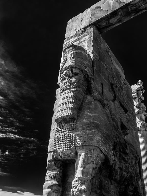 هنر عکاسی محفل عکاسی روح اله مصطفی نژادی دروازه ملل، تخت جمشید ابعاد 50*70 کاغذ سیلک شاسی 16 میل