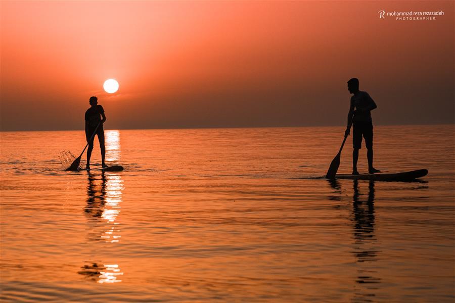 هنر عکاسی محفل عکاسی محمدرضا رضازاده غروب ساحل لاریم جویبار