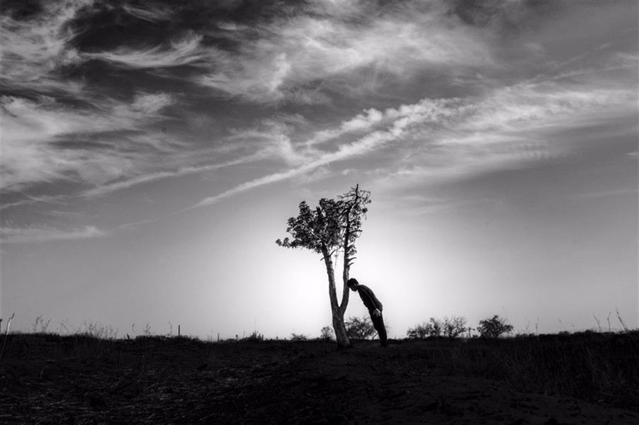 هنر عکاسی محفل عکاسی علی ذلقدری مرگ و تنهایی
