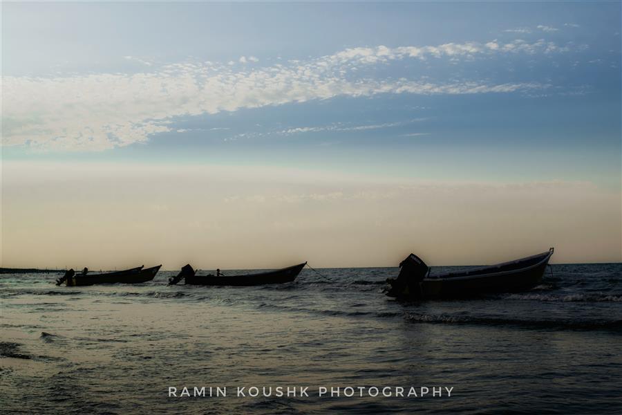 هنر عکاسی محفل عکاسی رامین کوشک سرایی قایق ها