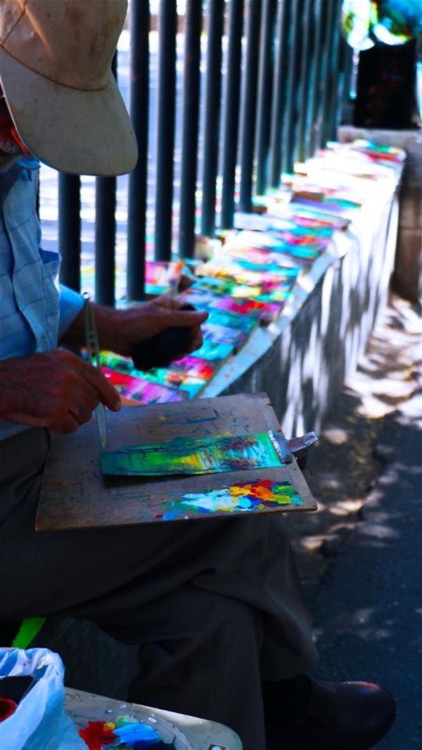 هنر عکاسی محفل عکاسی اردلان عزیزی راد نام اثر:رنگ خیابان ابعاد ۳۰در ۴۰