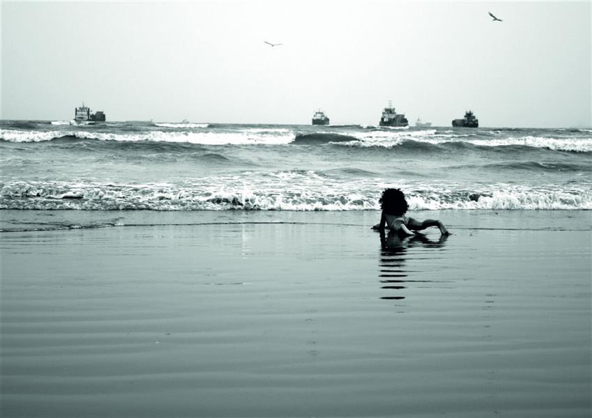 هنر عکاسی محفل عکاسی سولماز راشدزاده ابعاد:50*70 اسم اثر:رویای خیس مکان:بندرعباس چاپ شده روی شاسی