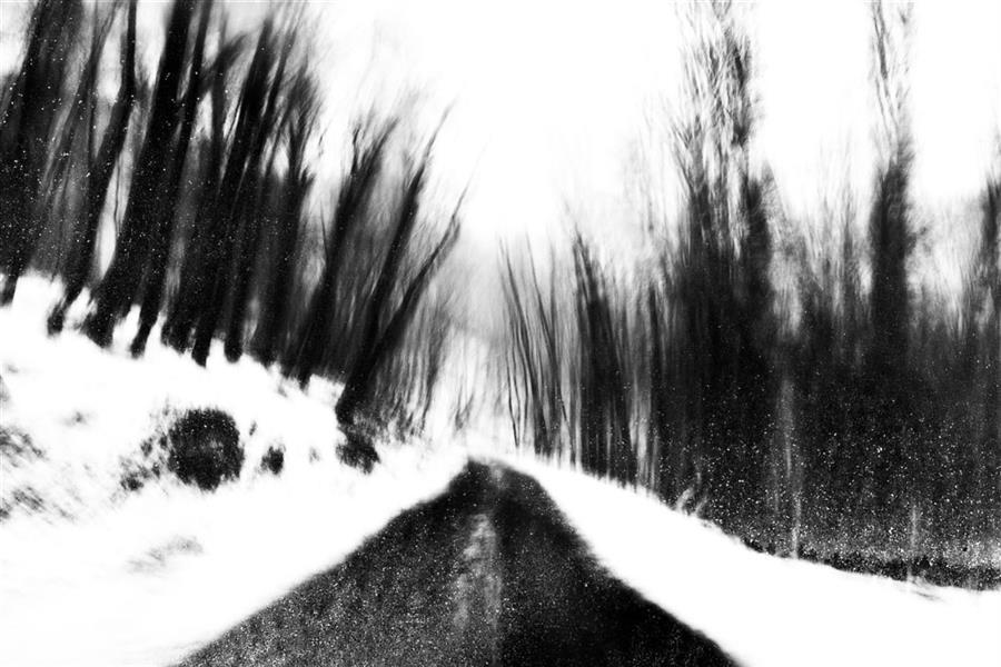 هنر عکاسی محفل عکاسی محمد پوریانی #photography #fineart #icm #abstract #impression #blackandwhite #bnw #dark #shadow #light #snow #landscape
