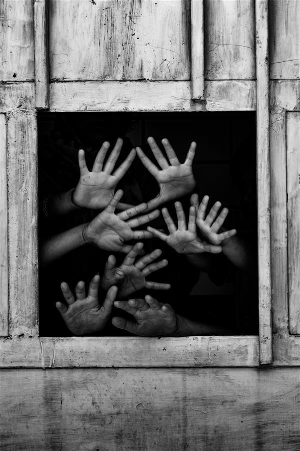 هنر عکاسی محفل عکاسی محمد خاجوی عورکی #مفهومی #سیاه_سفید #مستند_داستانی #پر تر ه سایز ۳۰*۴۵
