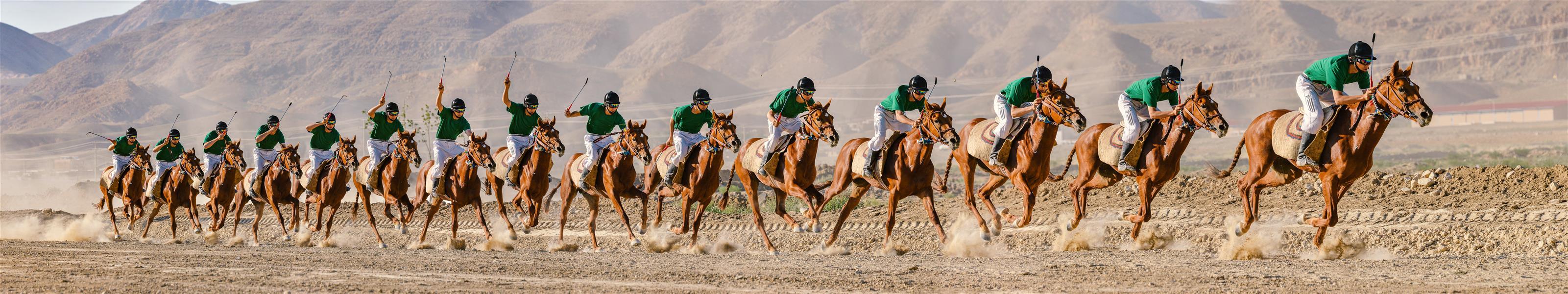 هنر عکاسی محفل عکاسی Mohammad amini حرکت اسب سوار و اسب در یک مسابقه اسب دوانی. مجموعه تصاویر فرم حرکت در قالب یک تصویر.
