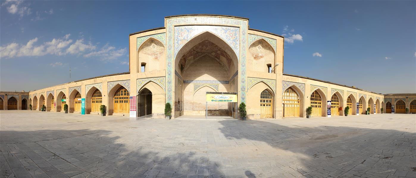 هنر عکاسی محفل عکاسی علی رحیم نیا عکس در قزوین  مسجد جامع  توسط تکنیک پانوراما ثبت شده عکاس علی رحیم نیا