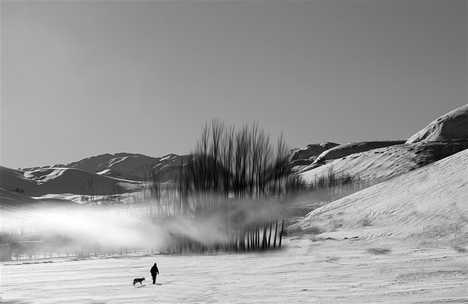 هنر عکاسی محفل عکاسی هادی فتاحی Snow man