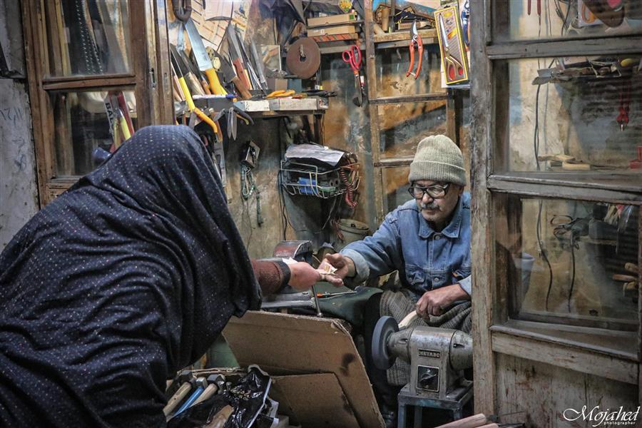 هنر عکاسی محفل عکاسی Mojahed مستند اجتماعی بازار همدان