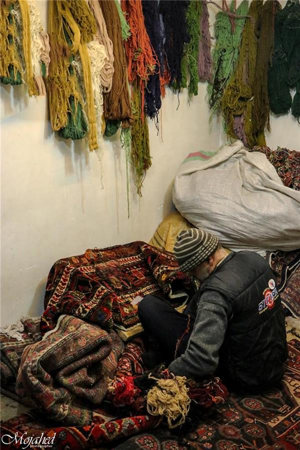 هنر عکاسی محفل عکاسی Mojahed مستند اجتماعی  بازار فرش همدان