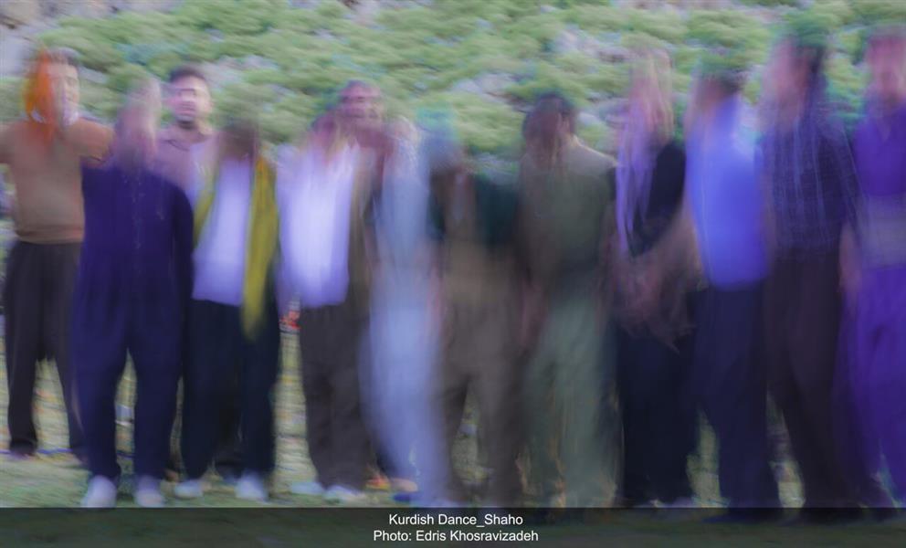هنر عکاسی محفل عکاسی - اثر آبستره و انتزاعی از رقص کردی (رقص مردمان منطقه جغرافیایی کردستان)