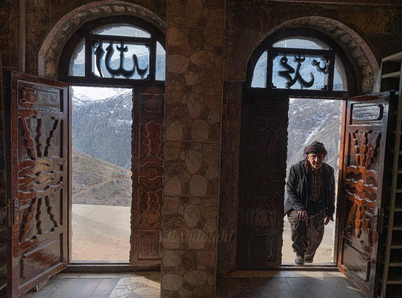 هنر عکاسی محفل عکاسی عادل عبدالهی ورودی مسجد اورامان تخت