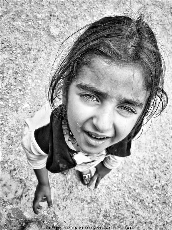 هنر عکاسی محفل عکاسی Edris Khosravizadeh پرتره کودک روستایی ۲