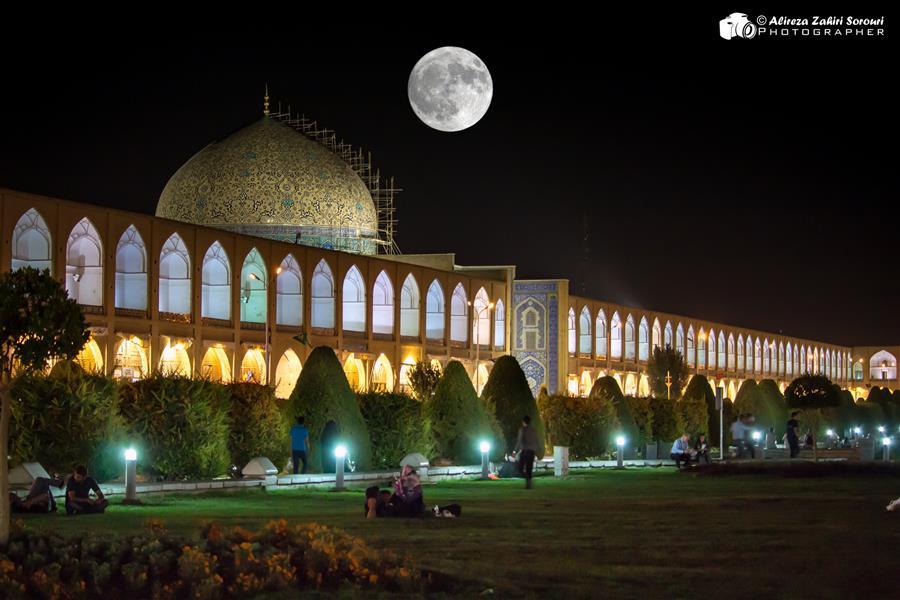 هنر عکاسی محفل عکاسی علیرضا ظهیری سروری ثبت ترکیبی از مسجد شیخ لطف الله اصفهان
