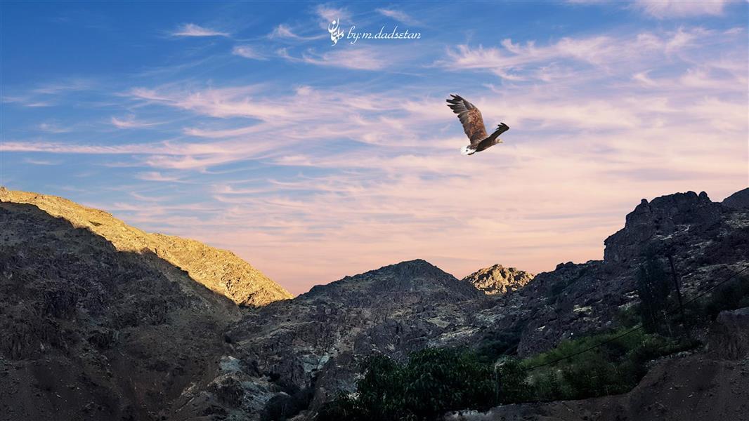 هنر عکاسی محفل عکاسی محمد دادستان عنوان: عقاب در قاب مکان: ارتفاعاتِ دربند #hdr #natural #my_city #eagles #mountain  #landscapes #sky #cloudy #darband