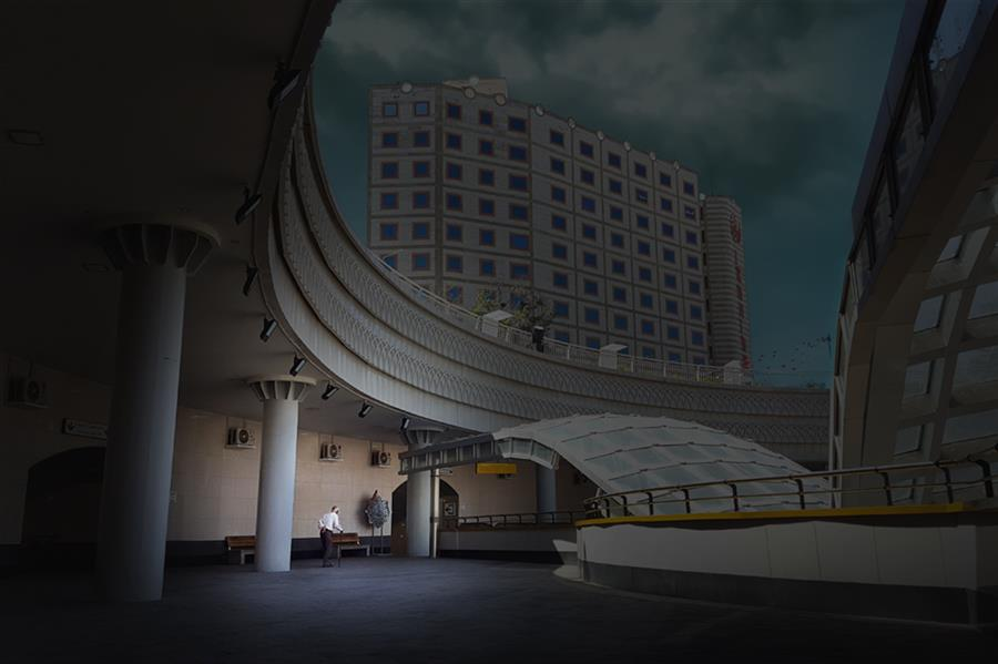 هنر عکاسی محفل عکاسی محمد دادستان Lonely and Curved #کانسپچوال #مفهومی #مینیمال #خیابان #مود #انسان #minimal #conceptual #mood #street