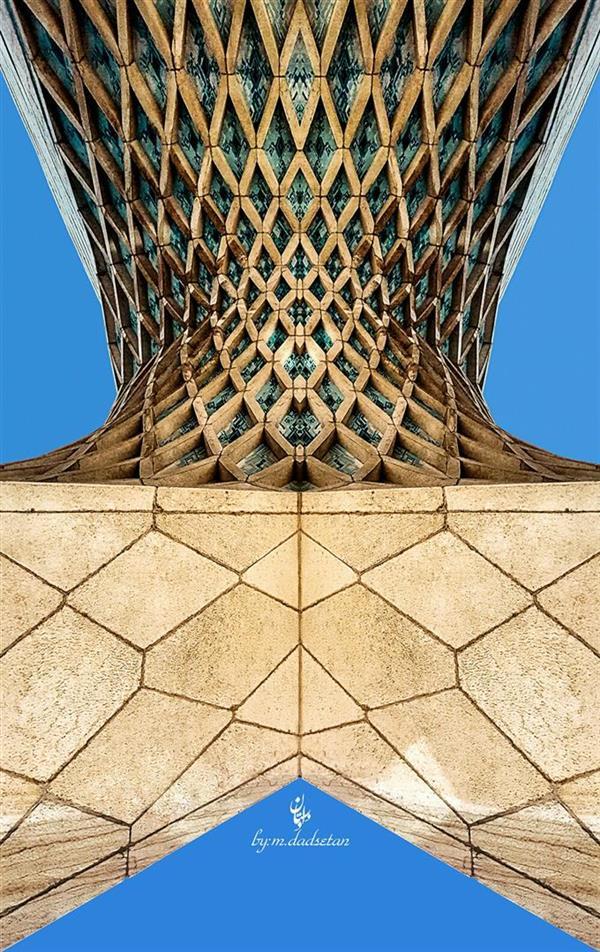 هنر عکاسی محفل عکاسی محمد دادستان برج آزادی از نمایی دیگر #tower #azadi #building  #city #my_city #tehran #sky #low_angle #hdr