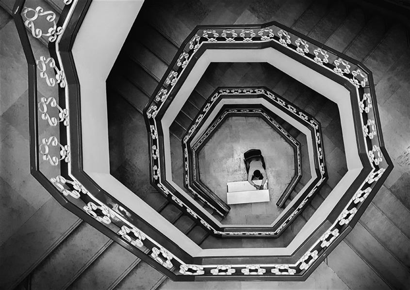 هنر عکاسی محفل عکاسی محمد دادستان Fibonacci ... #مینیمال #خیابانی #آرت #مونوکروم #مفهومی