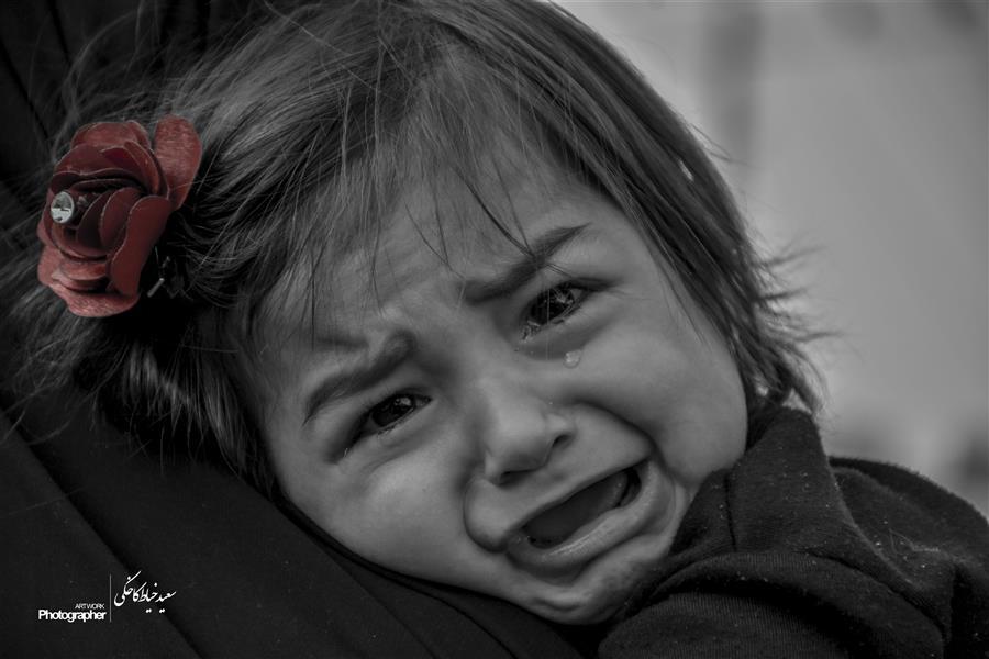 هنر عکاسی محفل عکاسی سعید خیاط کاخکی #کودک گریان