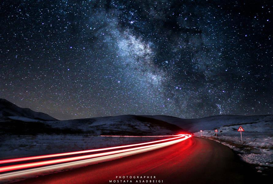 هنر عکاسی محفل عکاسی مصطفی اسدبیگی کهکشان راه شیری  تویسرکان