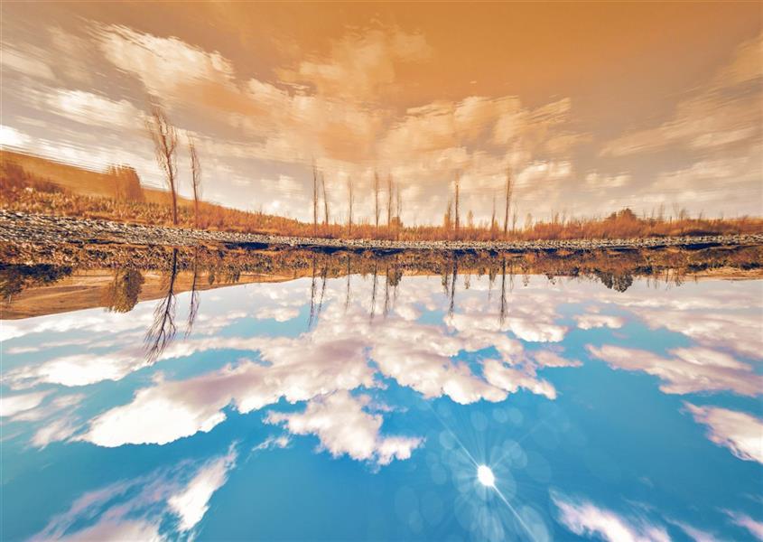 هنر عکاسی محفل عکاسی میثم عظیمی پاییز...انعکاس...