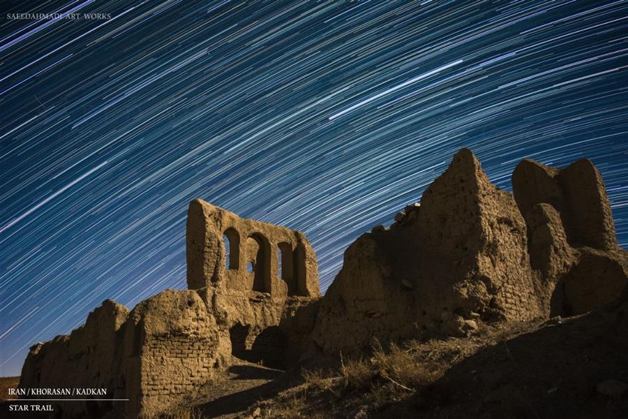 هنر عکاسی محفل عکاسی سعید احمدی Star trail Iran/khorasan/kadkan 115 shot  33s Nikon D7100