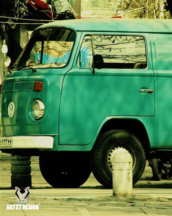 هنر عکاسی محفل عکاسی Art et design Blue volkswagen