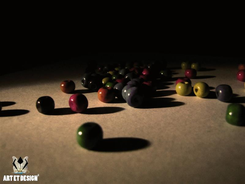 هنر عکاسی محفل عکاسی Art et design Colored beads