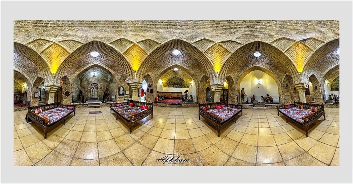 هنر عکاسی محفل عکاسی سعید افخم Panorama 360° حمام قلعه همدان