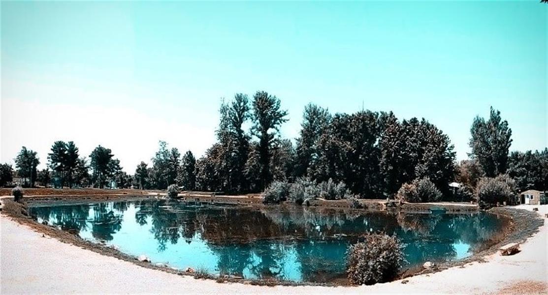 هنر عکاسی محفل عکاسی سید فرهاد لاری دریاچه زیبای طاق بستان کرمانشاه