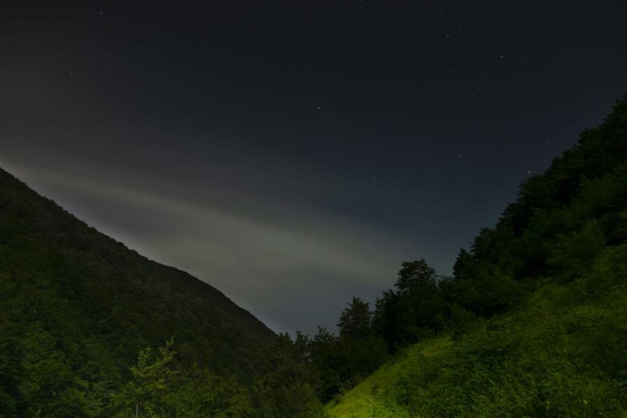 هنر عکاسی محفل عکاسی محمد کشمیری نژاد #آسمان#شب #جنگل #مشه_سویی