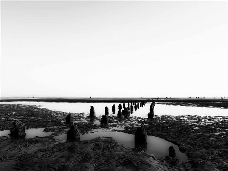 هنر عکاسی محفل عکاسی مریم کریمی #ساحل #سنگ #دریا