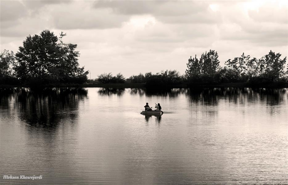 هنر عکاسی محفل عکاسی محسن خسروجردی #عشق#دریا#هوای عاشقی#برکه